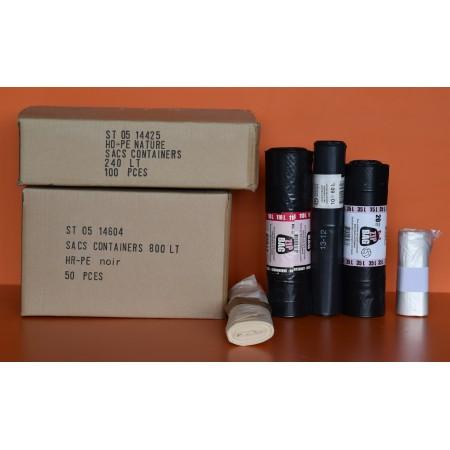 sacs container 360lt transp. épais ldpe 100my ST03/01565